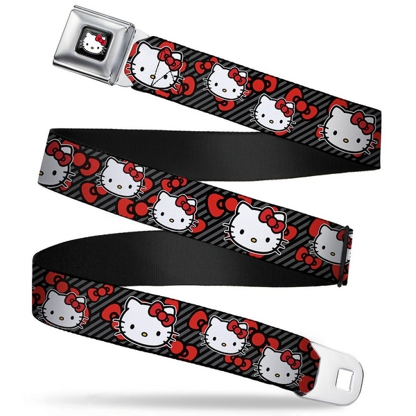 Hello Kitty W Red Bow Full Color Black Hello Kitty Multi Face W Diagonal Seatbelt Belt