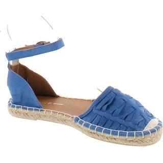 Wild Diva Tika-07 Women Casual Espadrille Two Piece Comfort Ankle Strap Flats (More options available)