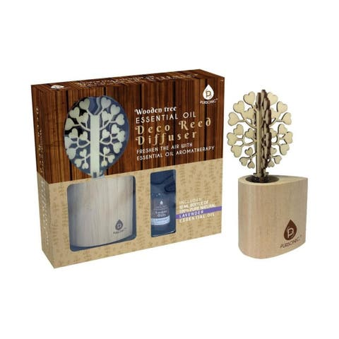 Pursonic Essential Oil Table or Vanity Aromatherapy Diffuser with Tree Design