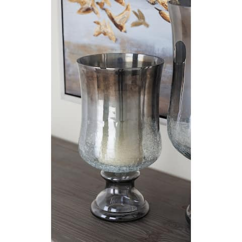 The Gray Barn Joyful Stream Glass Hurricane Brz 7 inches wide, 14 inches high