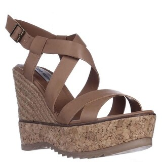 Steve Madden Elllaa Wedge Espadrille Cork Sandals - Natural