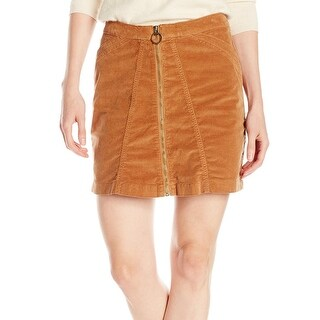 Buffalo David Bitton NEW Brown Women's Size 31 High-Rise A-Line Skirt