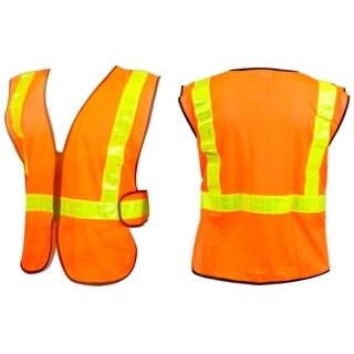 Sunlite ANSI Certified Reflective Cycling Safety Vest - Orange