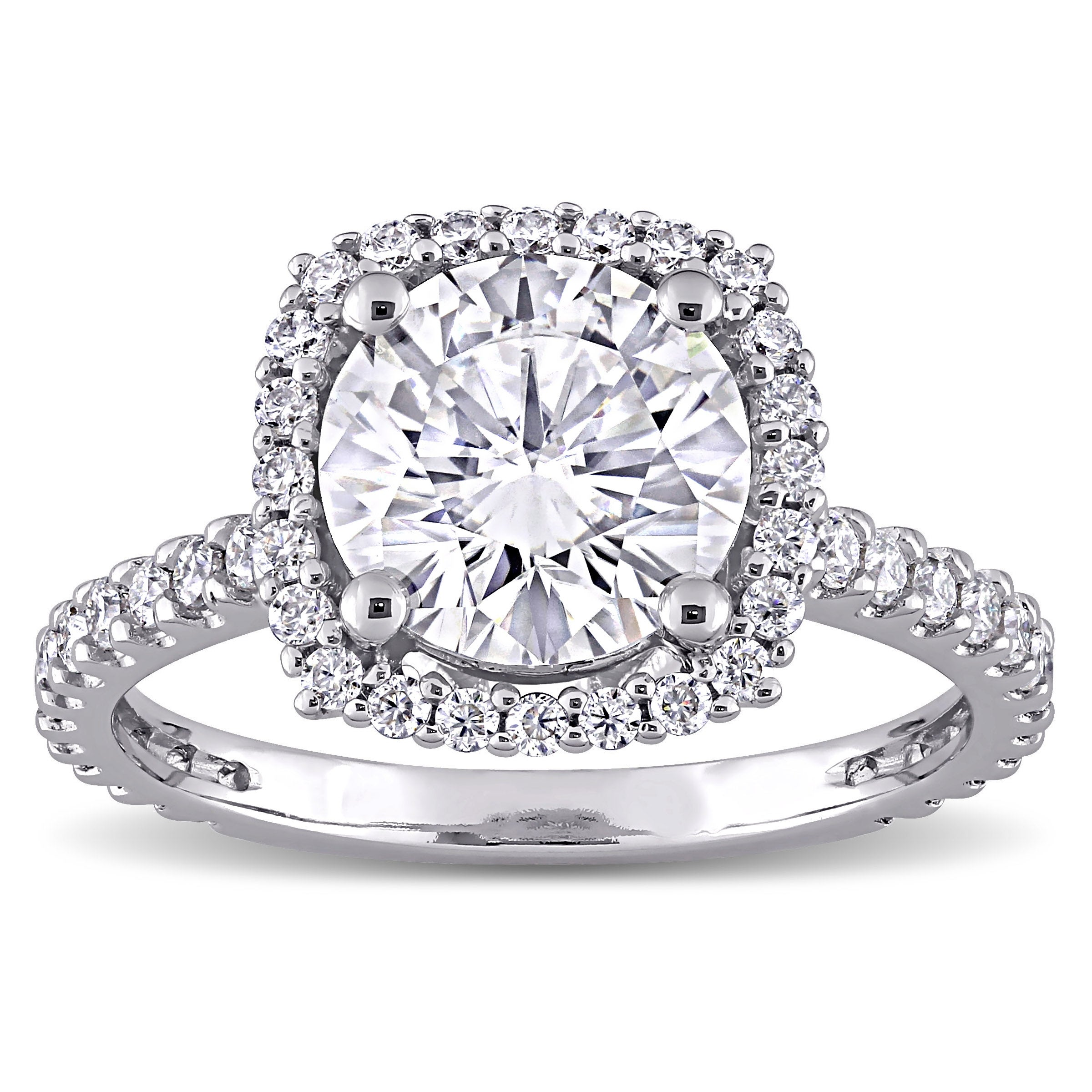 Details about  /Flower 5mm Round Cut Sparkle Moissanite Halo Engagement Ring 10k White Gold Gift