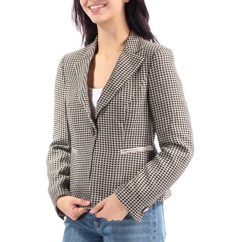 ARMANI Womens Black Collared Blazer Wear to Work Jacket Size 8