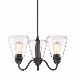 """Designers Fountain 90283 Foundry 3 Light 19"""" Wide Single Tier Shaded Chandelier"""