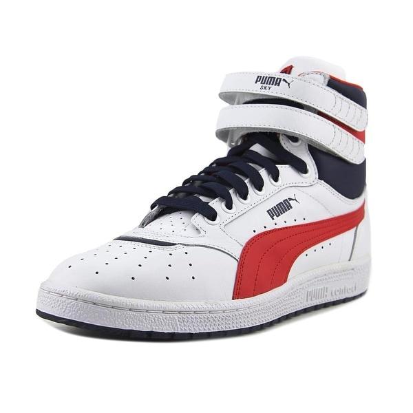 820260af818e33 Shop Puma Sky II Hi FG Men Round Toe Leather White Sneakers - Free ...