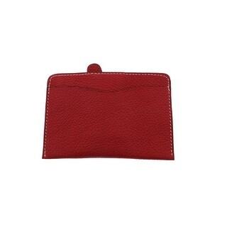 Lago Doro Womens Leather Solid Card Case - Small