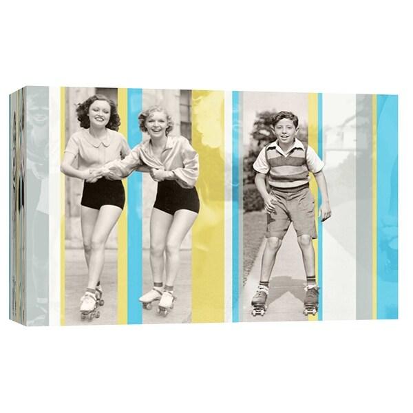"PTM Images 9-102227 PTM Canvas Collection 8"" x 10"" - ""Vintage Roller Skating"" Giclee Roller Skating Art Print on Canvas"