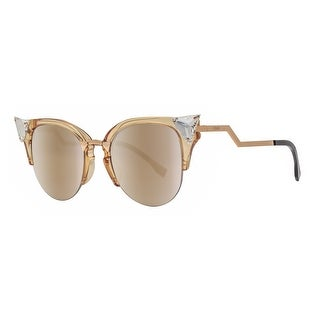 Fendi FF 0041/S 27L/FQ Iridia Yellow Gold Grey Gradient Women's Cat Eye Sunglasses - Yellow gold - 52mm-20mm-135mm