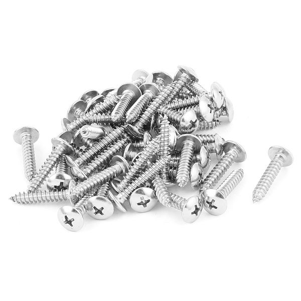 Unique Bargains 4.8mm X 27mm Phillips Cross Drive Truss Head Self Tapping  Screw Fasteners 50