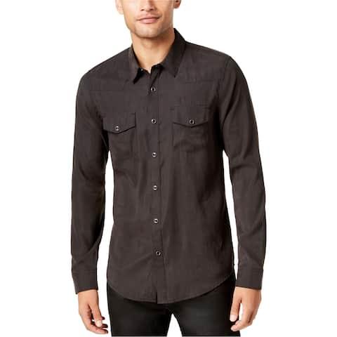 Guess Mens Sandwashed Western Button Up Shirt