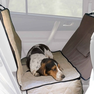 """K&H Pet Products Car Seat Saver Deluxe Extra Long Tan 57"""" x 56"""" x 0.25"""""""