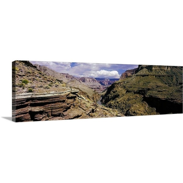 """Little Nankoweap Creek flowing through Grand Canyon National Park, Arizona"" Canvas Wall Art"