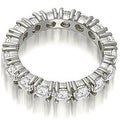 2.50 cttw. 14K White Gold Round Cut Diamond Eternity Wedding Band - Thumbnail 1