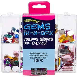 Gems In A Box 300/Pkg-Assorted Multi