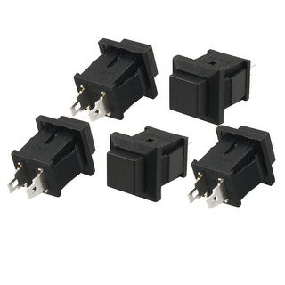 Unique Bargains Unique Bargains 5pcs 2 Terminals SPST Momentary Black Pushbutton Switch NO AC 125V 1A