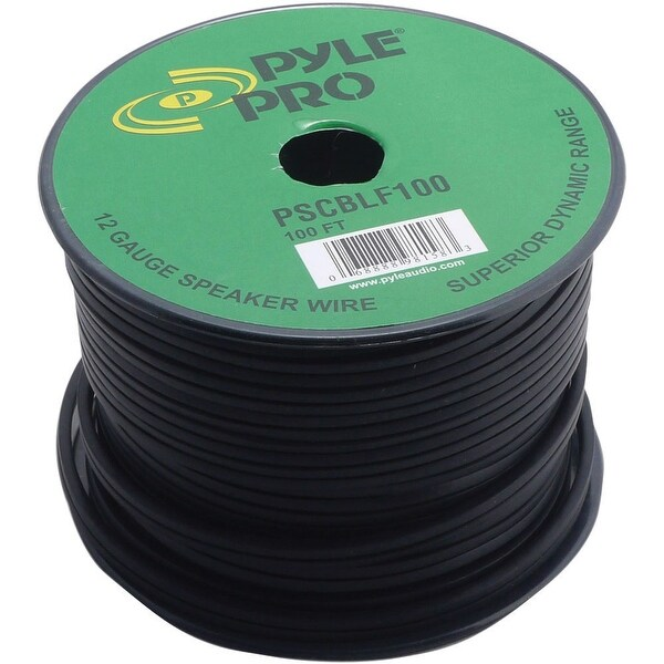 Pyle Pro 100Ft 12AWG Spool Speaker Cable