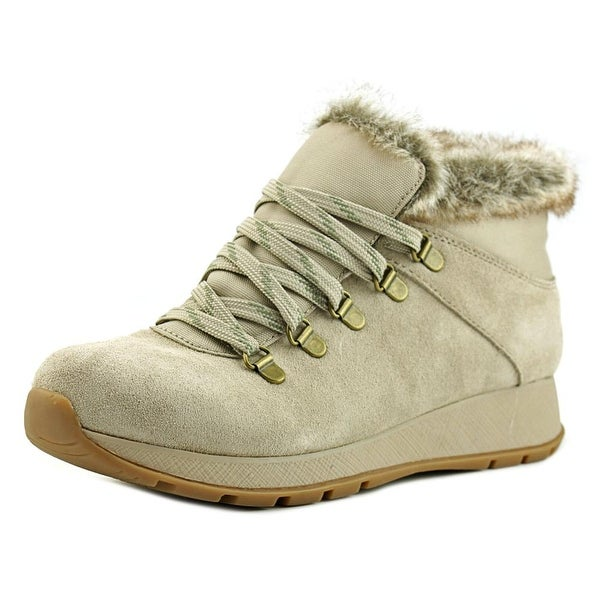 Baretraps Grazi Women Round Toe Suede Nude Winter Boot