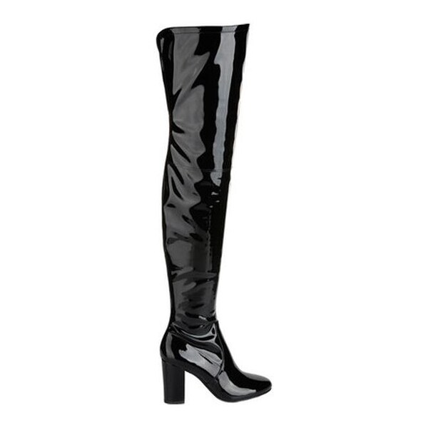 Shop Kenneth Cole New York Women s Angelica Thigh High Boot Black Stretch  Patent Polyurethane - On Sale - Free Shipping Today - Overstock - 17639016 2c31fc9251