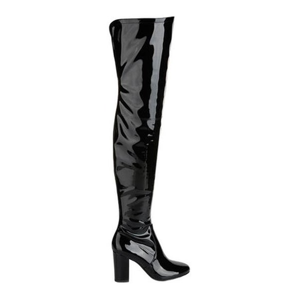 142f5e25b2f Shop Kenneth Cole New York Women s Angelica Thigh High Boot Black Stretch  Patent Polyurethane - On Sale - Free Shipping Today - Overstock - 17639016