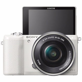 Sony Alpha a5100 Mirrorless 16-50mm Lens (White)