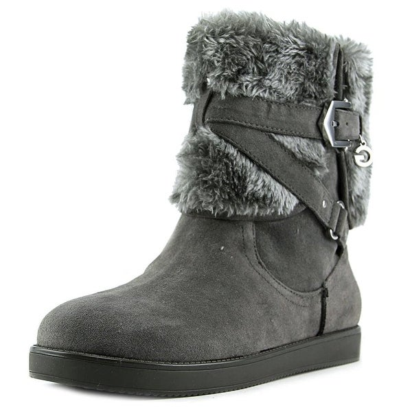 G by Guess Womens ALIXA Faux Fur Round Toe Ankle Cold Weather Boots