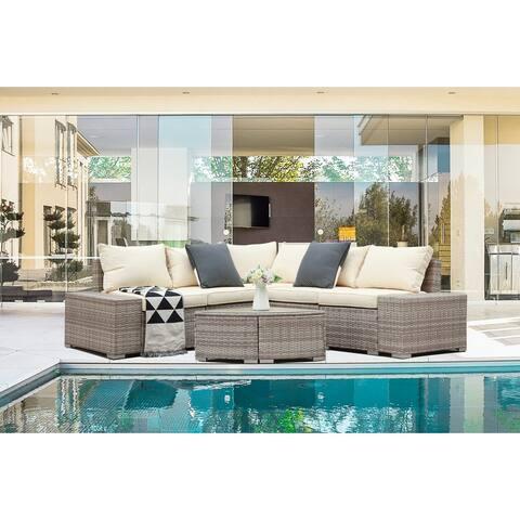 6-piece Outdoor Patio Sofa Sectional