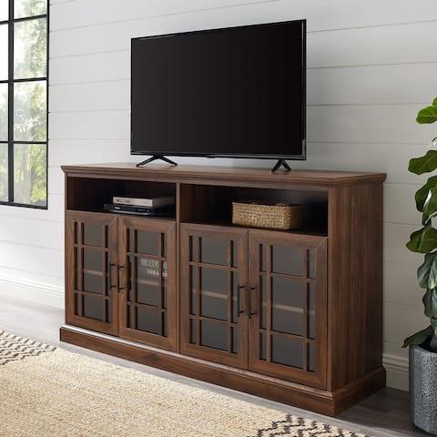 "Copper Grove 58"" Framed Glass 4-Door TV Console"