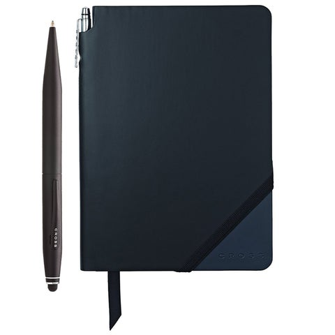 Cross Tech2 Ballpoint pen with refills and Jotzone Journal (Black/Navy - Medium)