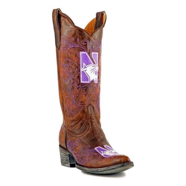 Gameday Boots Womens Leather College Team North Brass