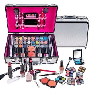 Link to SHANY Carry All Makeup Train Case with Pro Makeup, Reusable Aluminum Train Case - Medium Similar Items in Makeup