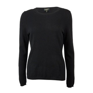 Charter Club Women's Cashmere Crew Neck Long Sleeve Sweater - heather cinder