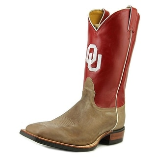 Nocona Men's Oklahoma State University Men Square Toe Leather Red Western Boot