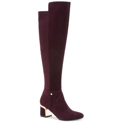 DKNY Womens Cora Closed Toe Knee High Fashion Boots