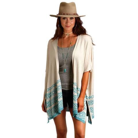 Stetson Western Sweater Womens Aztec Open Cardigan