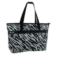 Protege Zebra Stripe Laptop Travel Tote Bag for Women