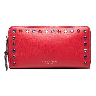 Marc Jacobs Women's Leather Pyt Continental Wallet Red