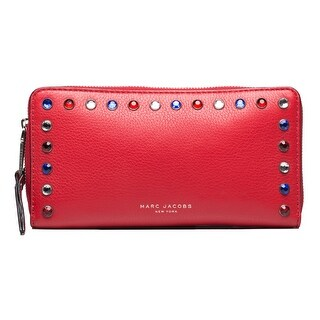 Marc Jacobs Women's Leather Pyt Continental Wallet Red - M