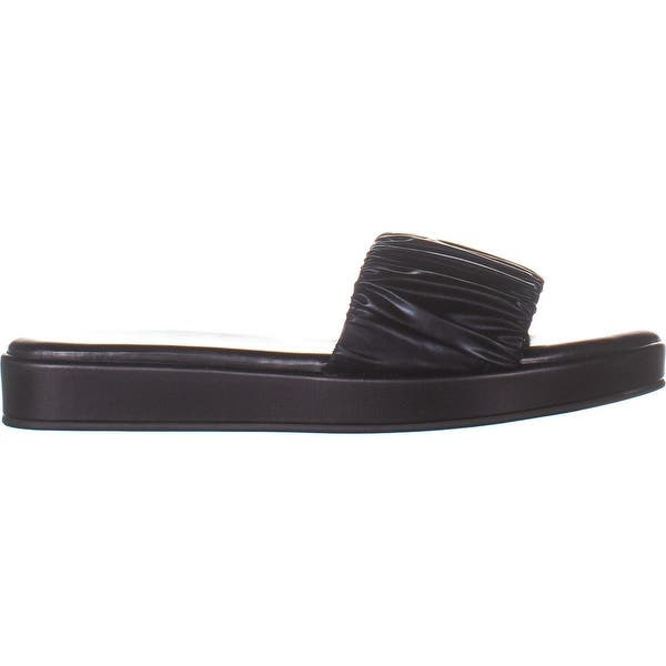 Katy Perry Womens The Lizzie Flat Slip On Ruched Pool Slides Shoes BHFO 5698