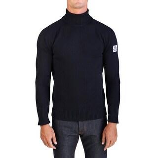 Moncler Gamme Bleu Men's Virgin Wool Turtleneck Sweater Navy Blue