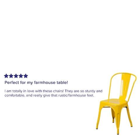 Birmingham Metal Indoor/ Outdoor Stackable Chair by Havenside Home