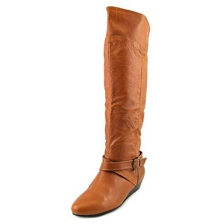 Chinese Laundry Triple Play Women Round Toe Leather Knee High Boot