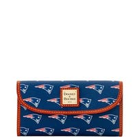 Dooney & Bourke NFL New England Patriots Continental Clutch Wallet (Introduced by Dooney & Bourke at $128 in Aug 2016)