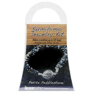 BeadSmith Kumihimo Bracelet Jewelry Kit, Do It Yourself, Petite Pebblestone