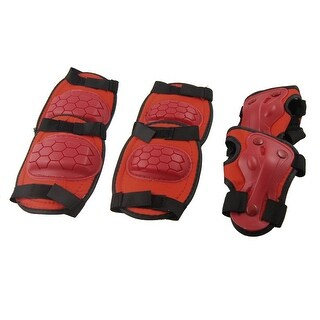 Skating Red Pads Knee Elbow Wrist Support Protector for Kids