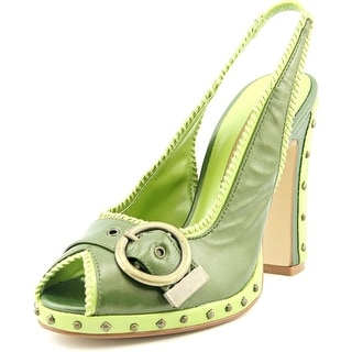 Chinese Laundry Falcon Peep-Toe Leather Slingback Heel