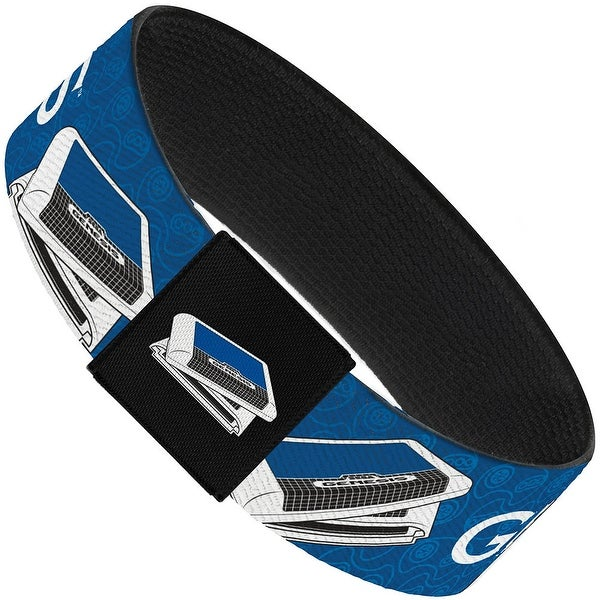 Sega Genesis Game Cartridges Controller Monogram Blues White Black Elastic Elastic Bracelet