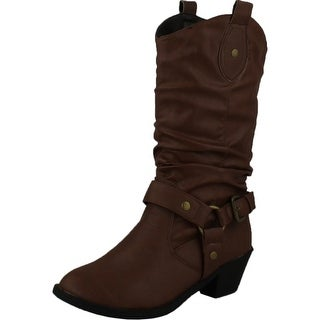 Wholesale Price LADIES FAUX SUEDE PULL ON ANKLE COWBOY BOOTS TEAL