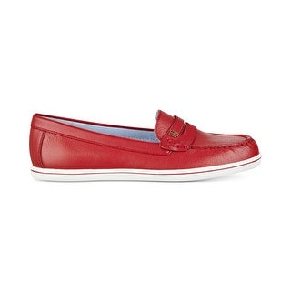 Tommy Hilfiger Womens Butter 4 Leather Closed Toe Loafers